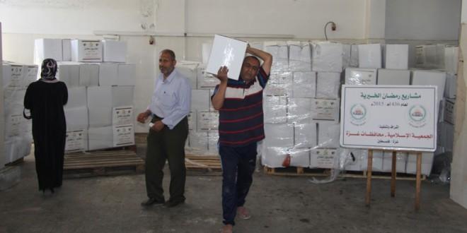 الربع الأول من رمضان : 3275 مستفيد من مشاريع الجمعية الإسلامية بغزة