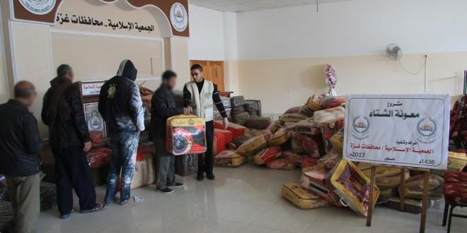 الجمعية الإسلامية – بغزة تستمر بتنفيذ مشروع معونة الشتاء