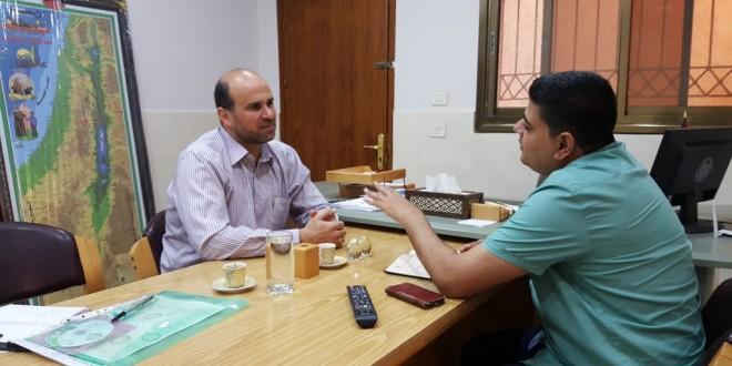 الجمعية الإسلامية تزور جمعية عطاء فلسطين