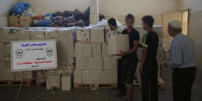 النصف الأول من رمضان : 6977  أسرة مستفيدة من مشاريع الجمعية بغزة