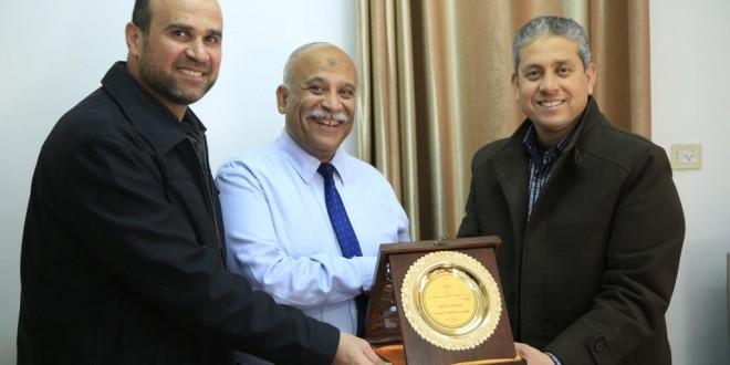 الجمعية الإسلامية تزور وكيل وزارة التنمية الاجتماعية بغزة