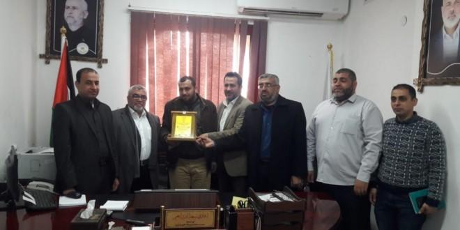 وفد من الجمعية الإسلامية يزور مدير عام مديرية داخلية غزة