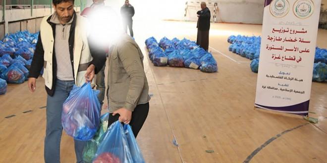 بالصور: توزيع سلة خضار على (280) أسرة فقيرة