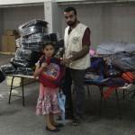 بدأت الجمعية الإسلامية بتوزيع مشروع الحقيبة المدرسية
